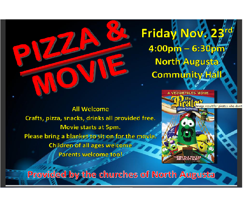 Pizza and Movie Night – Nov 23