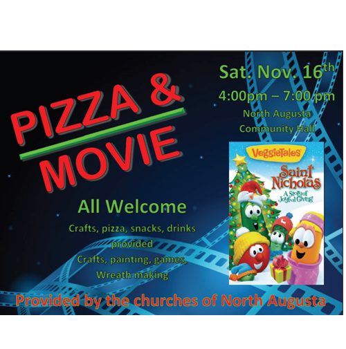 Pizza and Movie Night – Nov 16